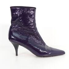 PRADA Lackleder Stiefelette Pumps Gr 41 lila Damen Echt Leder Schuhe High Heels