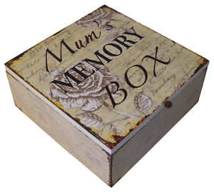 Mums Memory Box Keepsake Chest Memories Mothers Day Birthday Wooden Med SG1746