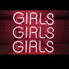 "14"" GIRLS GIRLS Acrylic Artwork Home Decor BEER BAR CLUB Neon Light Sign"