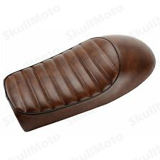 Brown Hump Universal Seat Cafe Racer Vintage Saddle For Honda CB Yamaha SR