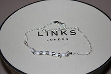 GENUINE LINKS OF LONDON STERLING SILVER SWEETIE MINI MIX 22 CM CHAIN BRACELET