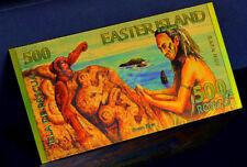 "★ ILE DE PAQUES / EASTER ISLAND : BILLET POLYMER  "" OR "" DU 500 RONGO 2012 ★"