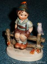 """Wayside Harmony"" Goebel Hummel Figurine #111 3/0 TMK4 Boy On Fence With Bird"