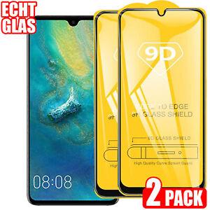 2x Huawei P20 / P30 / P40 Panzerfolie Schutzglas 9D Displayschutz Echt Glas 9H