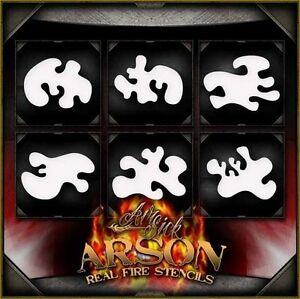 Arson Real Real Fire Airbrush Stencil Template Airsick