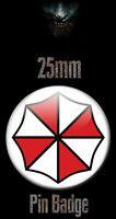 UMBRELLA CORPORATION LOGO 25mm BADGE Resident Evil Biohazard RE Image