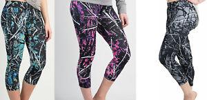 Muddy Girl Camo Athletic Workout Running Yoga Leggings Capris Pants
