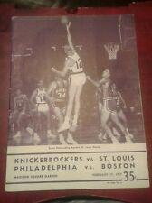 1959 NY Knickerbockers St.Louis Hawks Boston Celtics Philadelphia Warriors Prog.