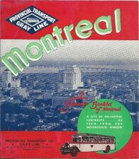 1939 Pictorial Motor Coach Tour Map MONTREAL Quebec Canada Beaver Colony Furrier