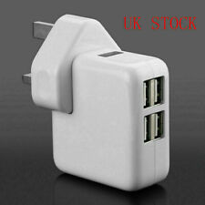 4Port USB Multi Plug Wall Charger for i Phone Pad Samsung for UK only NEW