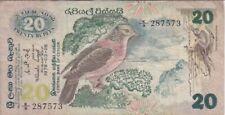 Ceylon Banknote P86-7573 20 Rupees 1979, Prefix K/9,  F+   WE COMBINE