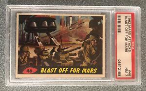 1962 Mars Attacks Topps #46 PSA 7 Blast Off For Mars No Reserve