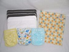 Cloth Pocket Diaper Starter Set Bamboo Inserts Wetbag Gender Neutral Baby Shower