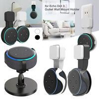 Outlet Wall Mount Holder Stand Hanger Socket For Amazon Echo Dot 3rd Gen Speaker
