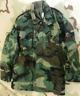 US ARMY VINTAGE COAT COLD WEATHER FIELD JACKET CAMO NSN 8415-01-099-8927 XSM R