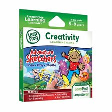 Adventure Sketchers LeapFrog Leapster LeapPad Creativity Learning Game 5-8 years