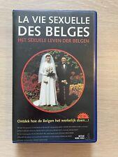 La Vie Sexuelle Des Belges Ex-Rental Vintage Big Box VHS Tape French dutch subs