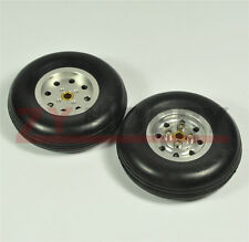 1 Pair 2.5inch Solid Rubber Wheels with Alu Hub For RC Airplane H20mm
