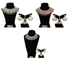 Indian Bollywood Fashion Necklace Gold Plated Bridal Wedding Ethnic Jewelry Set