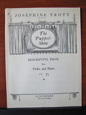 The Puppet Show by Trott -Violin sheet music/Piano acc - Op 5 No 1 - 1923