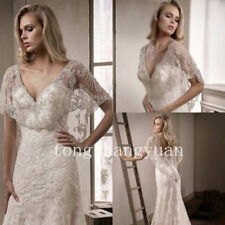 Luxury Wedding Cloak Bridal Boleros Cape White Ivory Beads Crystal Custom Hi-Low