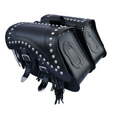 MOTORCYCLE LEATHER SADDLEBAGS PANNIERS YAMAHA XV750 VIRAGO XVS650 XVS950 C29C