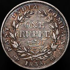 More details for 1835 b | british india william iiii one rupee | silver | coins | km coins