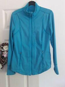 Ladies Turquoise Zipper Golf Jacket By Calvin Klein,  Size L