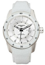 Jorg Gray Unisex JG3700-13 White Dial White Leather Band Stainless Steel Watch
