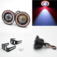 "2.5"" 64mm Car Projector LED Fog Light Halo Red Angel Eye Ring Bulb High Power"