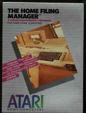 Home Filing(File) Manager Atari 800/XL/XE on Disk New. NIB