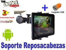 """SOPORTE REPOSACABEZAS PARA TABLET SONY XPERIA S 9.4"""" pulgadas + CARGADOR USB"""