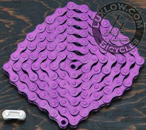 "Purple KMC Fixie Bicycle Chain Single Speed 1/2x1/8""112 Schwinn Cruiser Bike BMX"