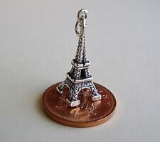 SUPERB ' EIFFEL TOWER ' STERLING SILVER 3D CHARM