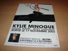 KYLIE MINOGUE - BODY LANGUAGE!!!!!!! PUBLICITE / ADVERT