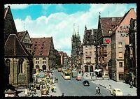 c1960 Konig street scene Nurnberg Germany Kruger postcard