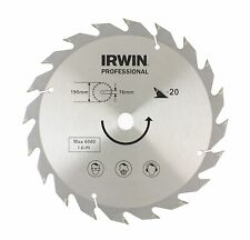 IRWIN 10504886 Professional 190mm x 16 x 20 Teeth CT Circular Saw Blade for Wood
