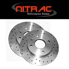 NITRAC max DRILLED SPORT - CRYOGENIC TREATMENT Front Vented Brake Discs PBD459F