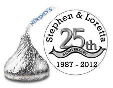 216 SILVER ANNIVERSARY 25TH WEDDING ANNIVERSARY FAVORS HERSHEY KISS LABELS