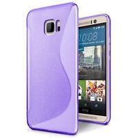 Handy Hülle für HTC One M9 Silikon Case Ultra Slim Cover Schutzhülle Tasche Lila