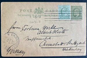 1907 London England Postcard Stationery Cover To Germany