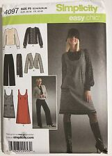 4097 UNCUT Simplicity Pattern Easy Chic Blouse Jacket Pants Jumper Scarf 12-20