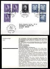 NP-Träger 1910, u.a. J.van der Waals & O.Wallach. FDC+Beschreibung.Schweden 1970