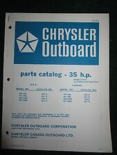 1978 Chrysler Outboard 35 HP Parts Catalog Manual 350H8L 351H8L 356H8M 357H8M +