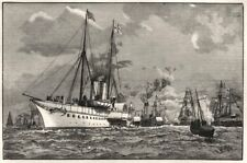 German Emperor Imperial yacht Hohenzollern, Port Victoria, Sheerness. Kent, 1891