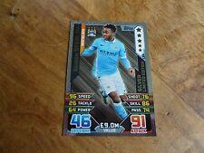 2015/16 MATCH ATTAX RAHEEM STERLING MAN CITY  SILVER LIMITED EDITION CARD