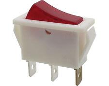 Wippenschalter Ausschalter rot beleuchtet EIN/AUS 1polig 250V 6A weiß