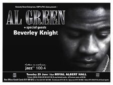"Tour Poster~Al Green 1992 W/ Beverley Knight Live Royal Albert Hall 30x40"" Nos~"