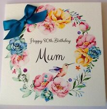 PERSONALISED WATERCOLOUR BIRTHDAY CARD MUM NAN 50th 60th 70th 80th 90th 100th