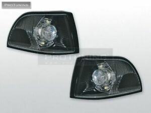 Black Transparent Turn Signals Markers For Volvo S70/V70/C70 96-99